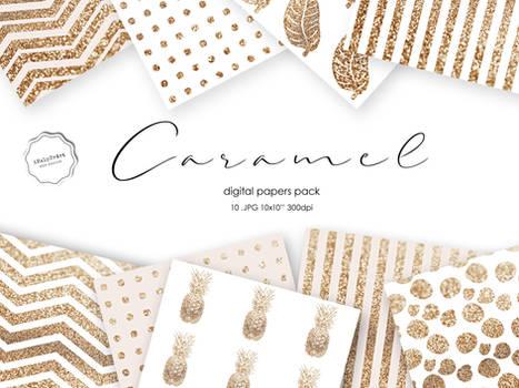 Blush and Glitter Paper - CARAMEL