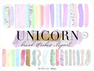 Unicorn design elements clipart