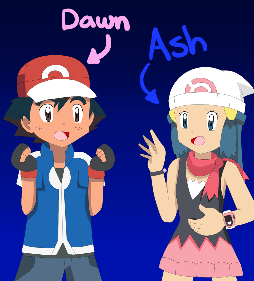 Ash and dawn fuck each other