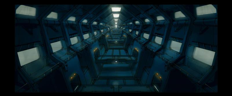 Prison corridor 3 by TheUncannyKen