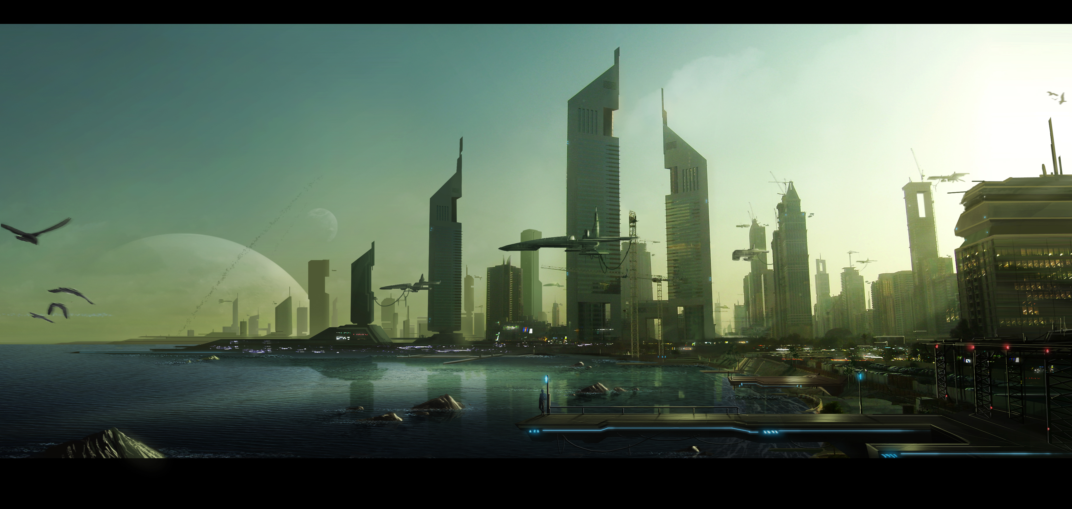 Tom hilton concept art january 2014 for Space matte painting