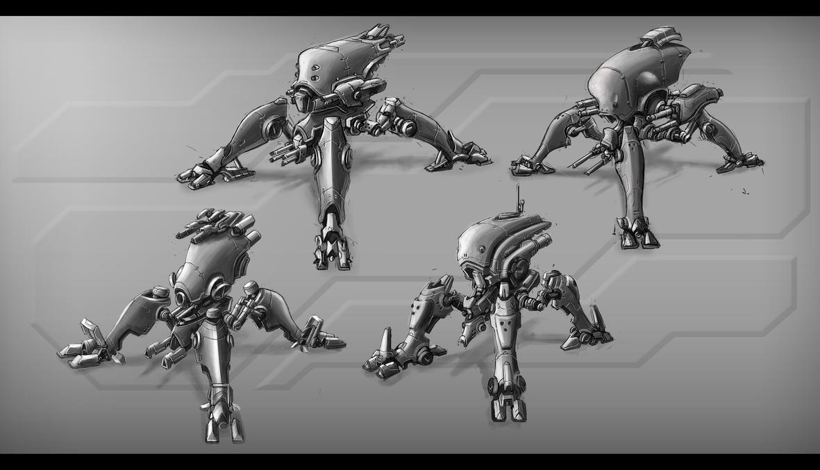 Spider Mechas 2 by TheUncannyKen