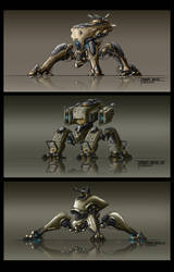 Spider Mechas 3 by TheUncannyKen