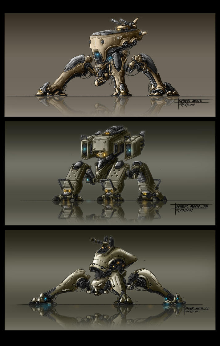 Spider Mechas 3 by TheUncannyKen