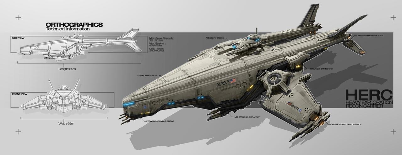 Space Ship 01 by TheUncannyKen