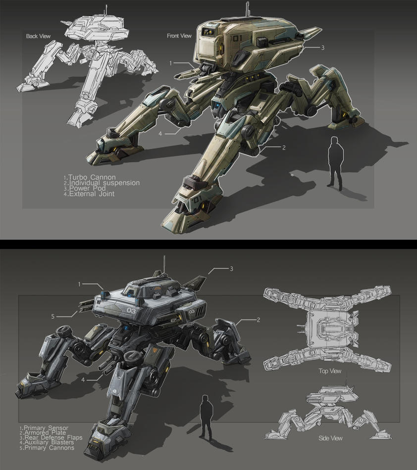 Brother Mechs by TheUncannyKen