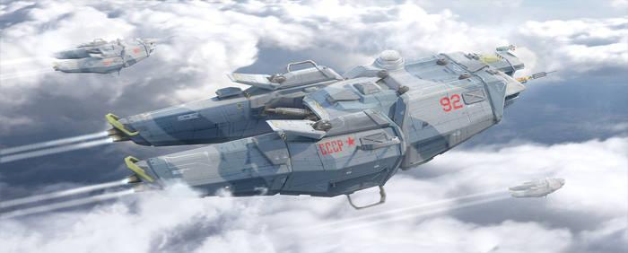 Brutalist Soviet Spaceship