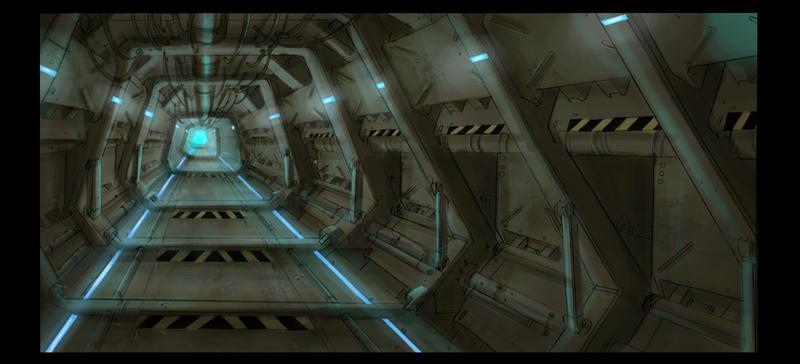 Prison corridor 1 by TheUncannyKen
