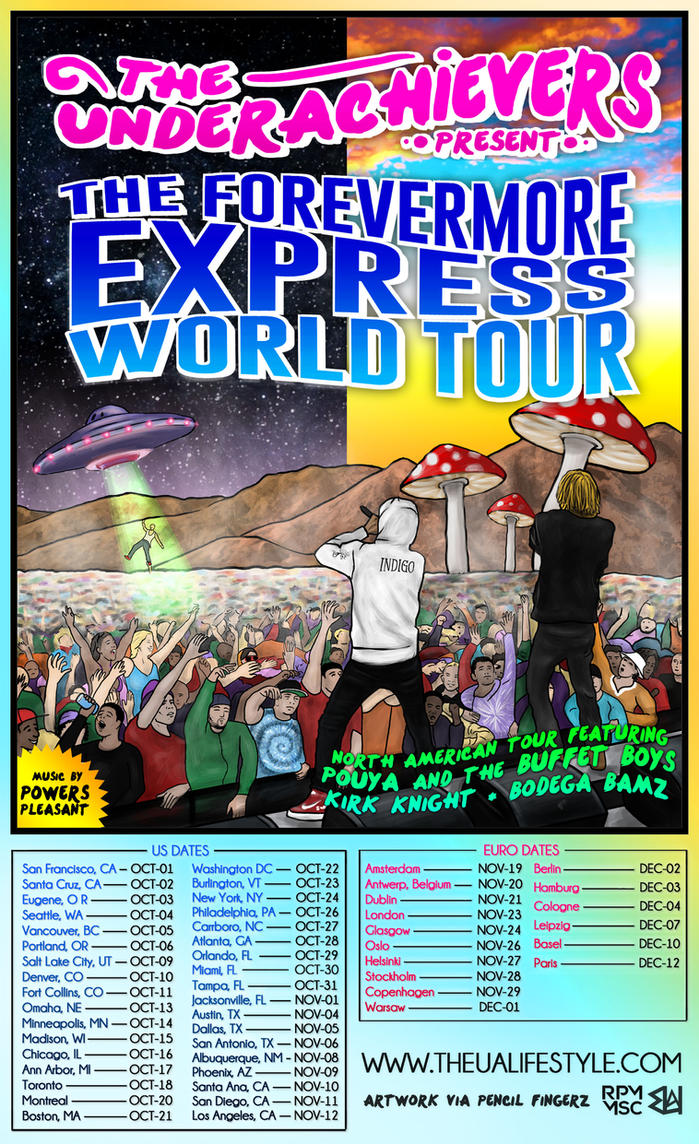 The Underachievers World Tour Poster by IAmPencilFingerz