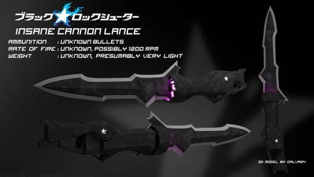 Insane Cannon Lance - Black Rock Shooter by Dalva24