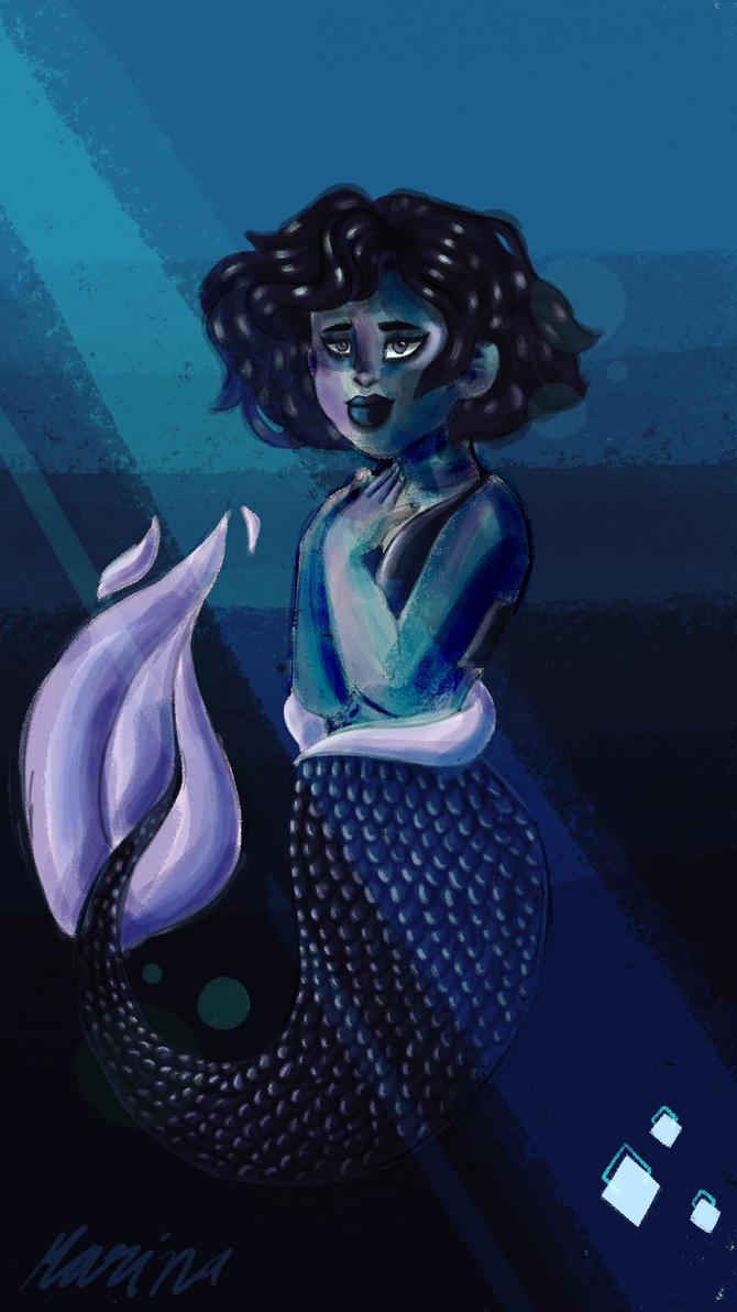 Blues Under The Ocean by MarinaArts