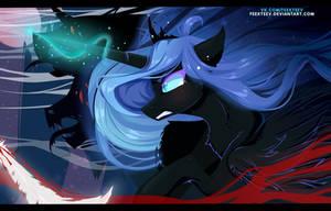Nightmare Moon and her Demons by feekteev