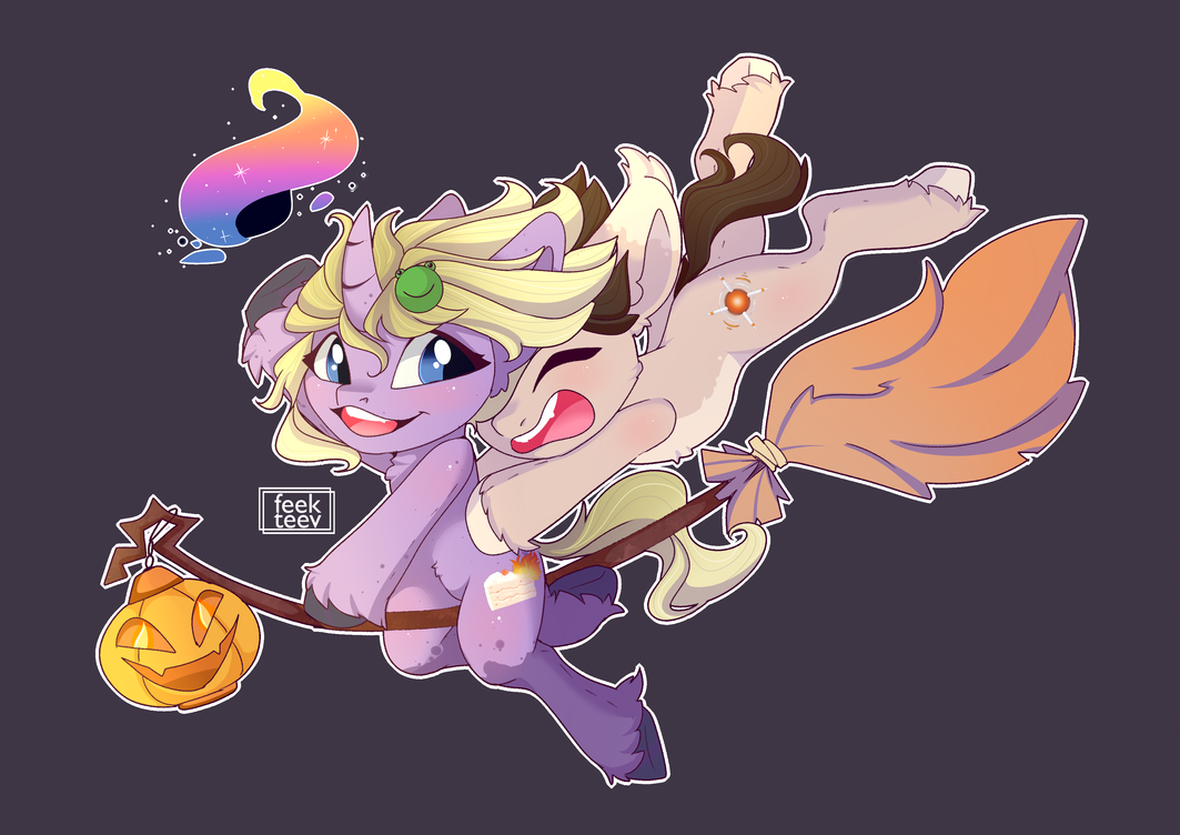 Flight with a witch! by feekteev