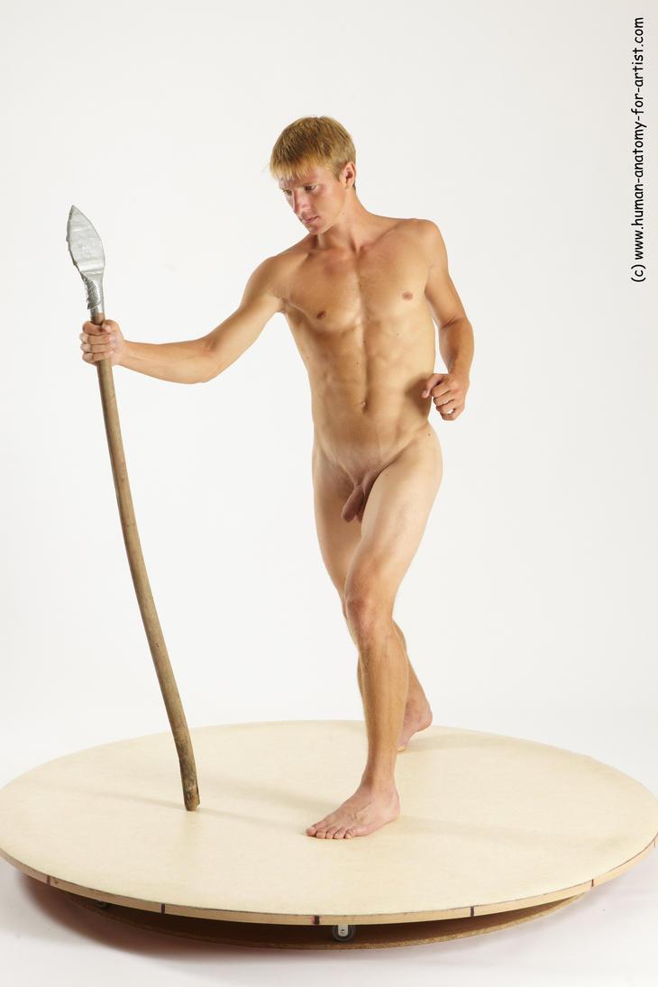 naked women holding spears
