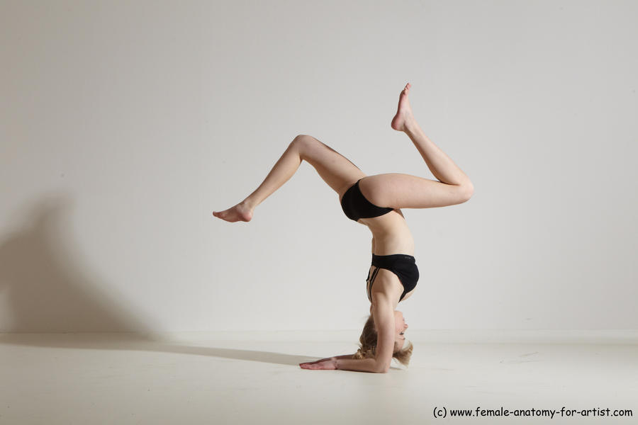 The word Gymnastics female anatomy poses casual