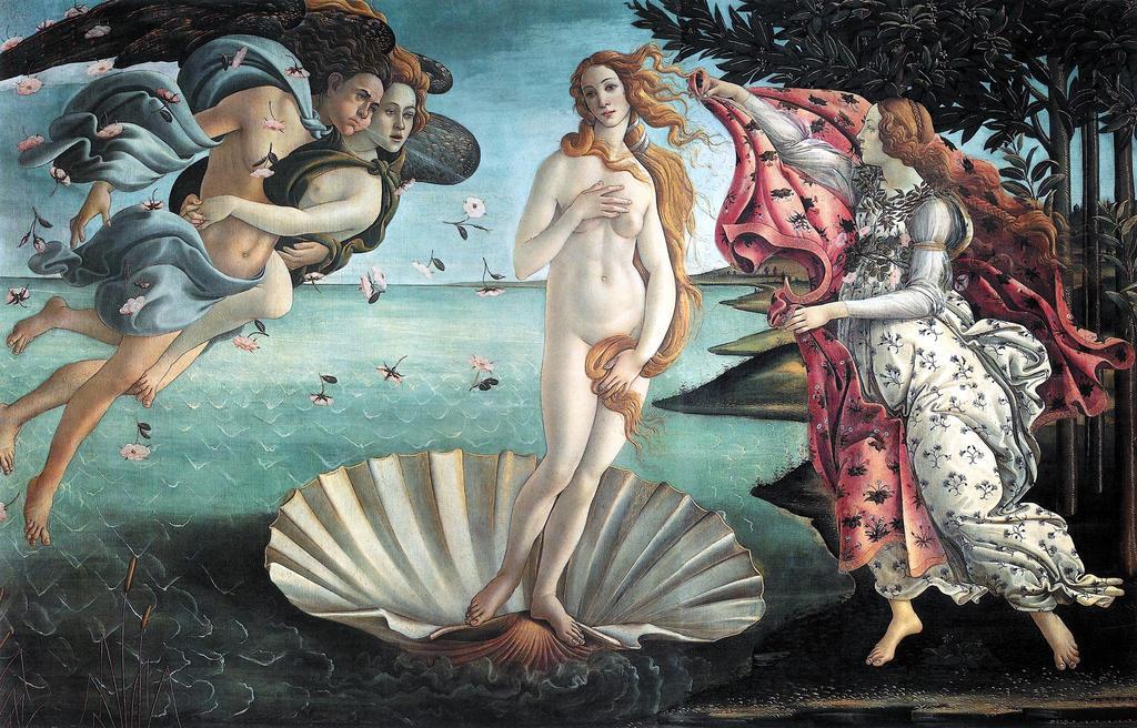Birth of Venus Botticelli by ArtistReferences