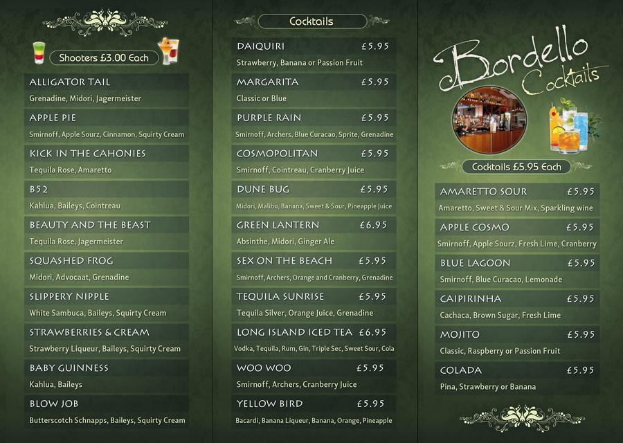 cocktail menu card juve cenitdelacabrera co
