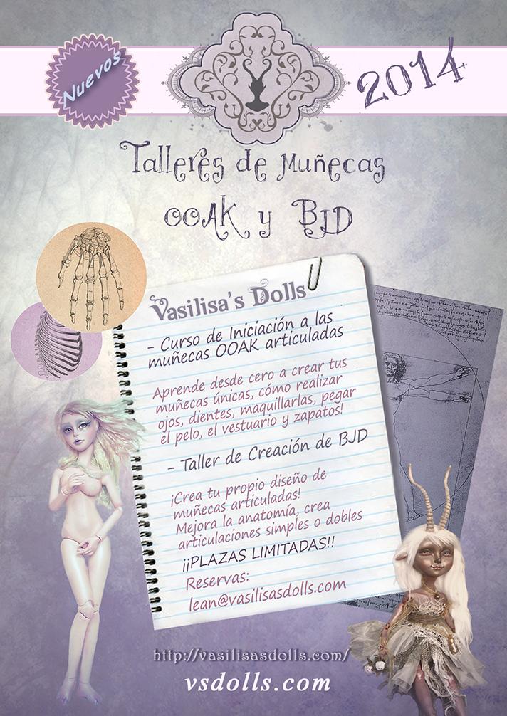 Cursos y Talleres Art Dolls, BJD by Leablackvelvet