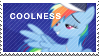 Rainbow Dash Coolness Stamp by SonKitty