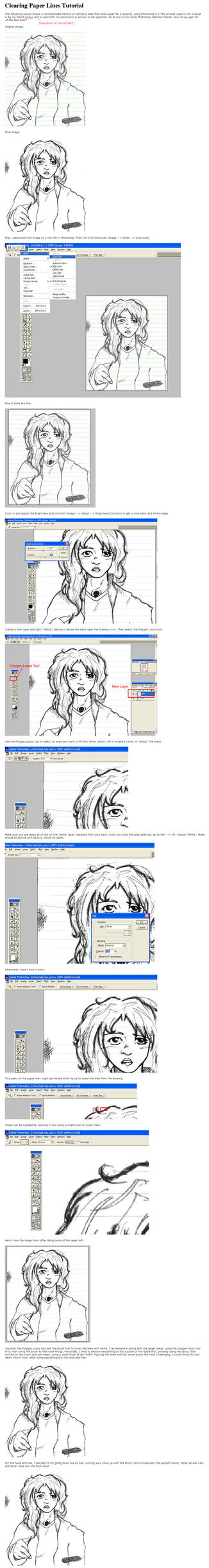 Clearing Paper Lines Tutorial