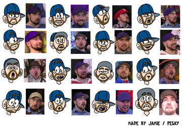 The many faces of Fraser Agar by Peskyplumber64