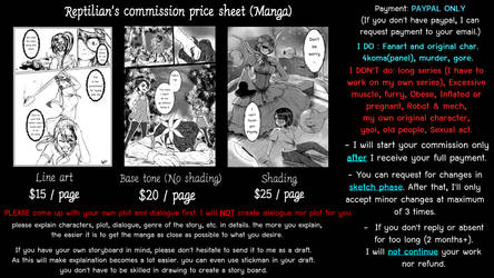 Commission for Manga is now open! by ReptilianDraw