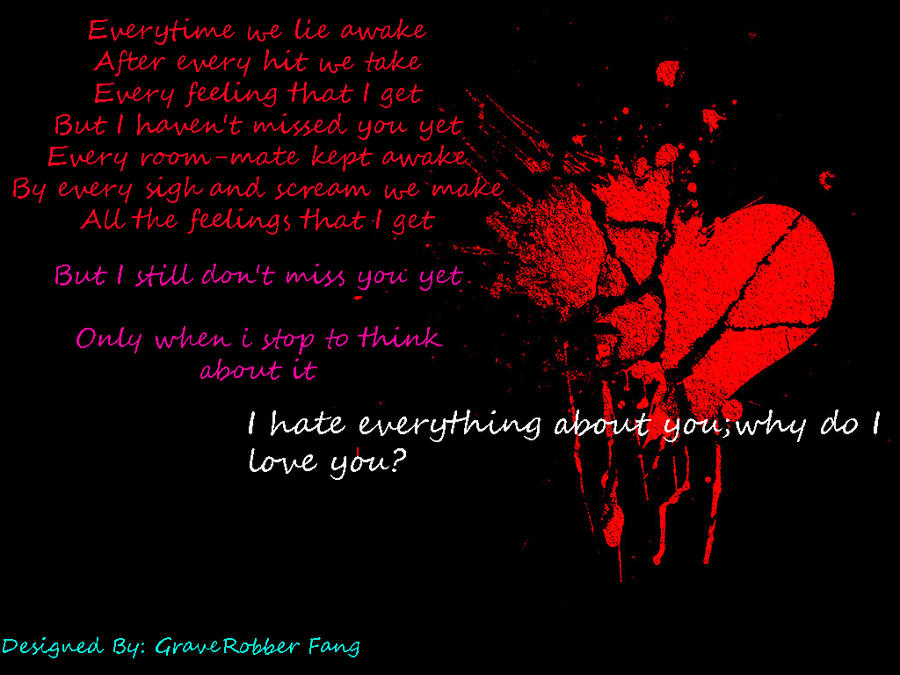 Three Days Grace - (I Hate) Everything About You Lyrics ...