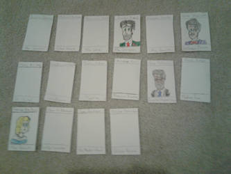 Clue: Murder At Tudor Mansion Suspect Cards  by PenDoodles0320
