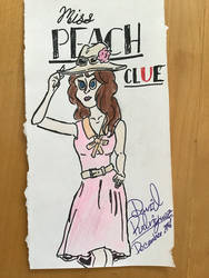 Miss Peach - Marmalade Game Studios Cluedo by PenDoodles0320