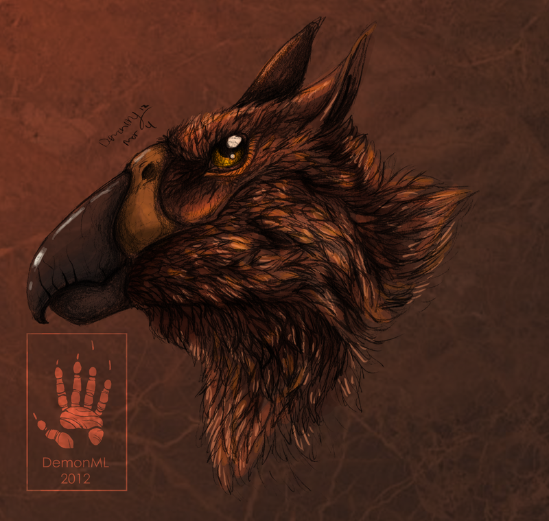 Gryphon head study by DemonML