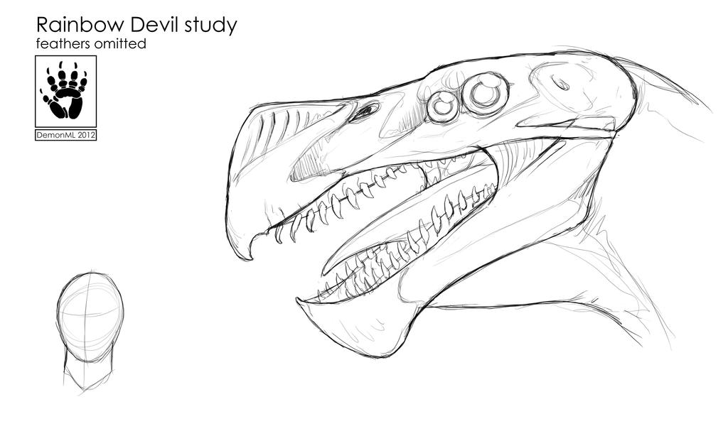 Rainbow devil head concept (revamp) by DemonML