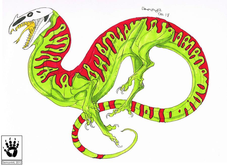 Blood-Backed Skull Drake by DemonML