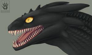 Night Fury head study by DemonML