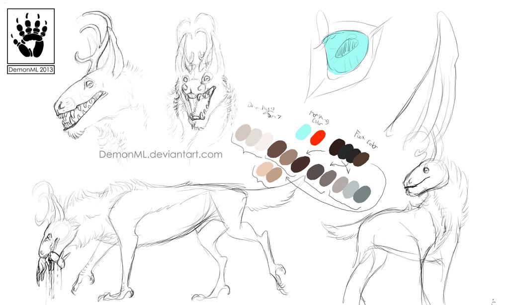 Deer Creature Doodles and info by DemonML