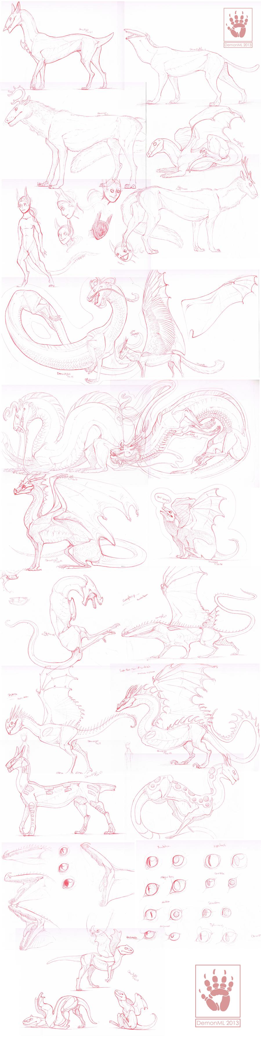 Sketch Dump by DemonML