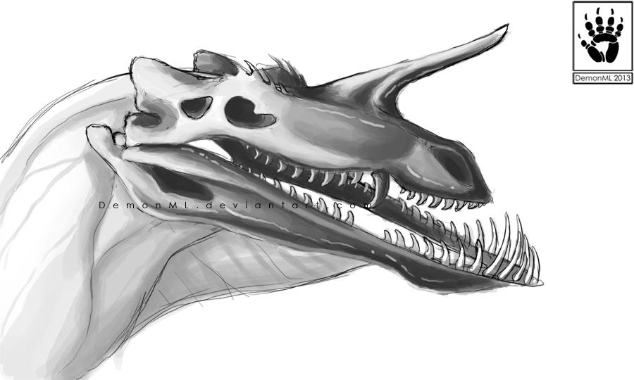 Smolder Drake Skull by DemonML