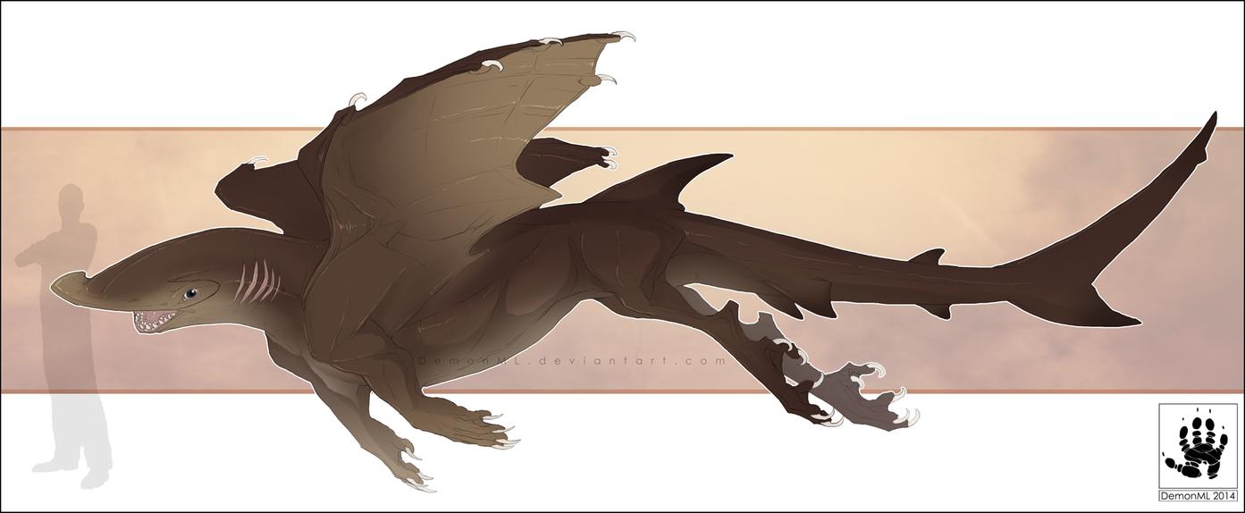 Hammerhead Shark Dragon by DemonML