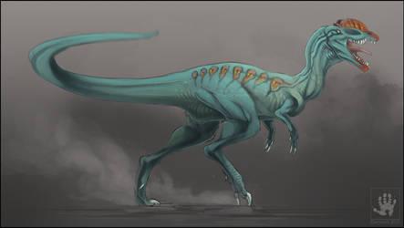 Dinovember: Dilophosaurus by DemonML
