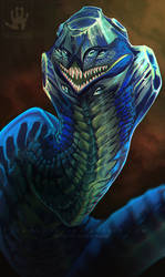 Sapphire Dragon by DemonML