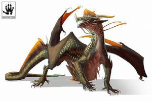 Gold Fringed Dragon