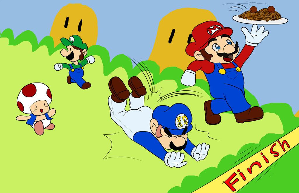 SUPER MARIO GLICH 4  racefor the spaghetti by chatory