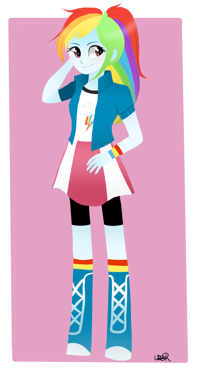 Equestria Girls - Rainbow Dash by Riizu-chii