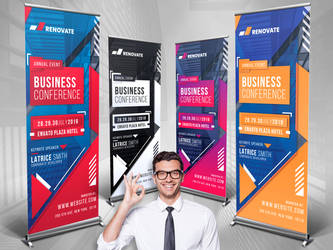 Business Roll-Up Banner by loungedesign