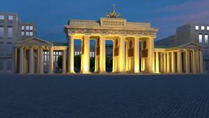 Lowpoly Brandenburg Gate [Night]