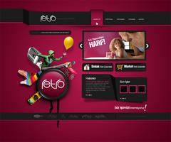 retro homepage by SencerBugrahan