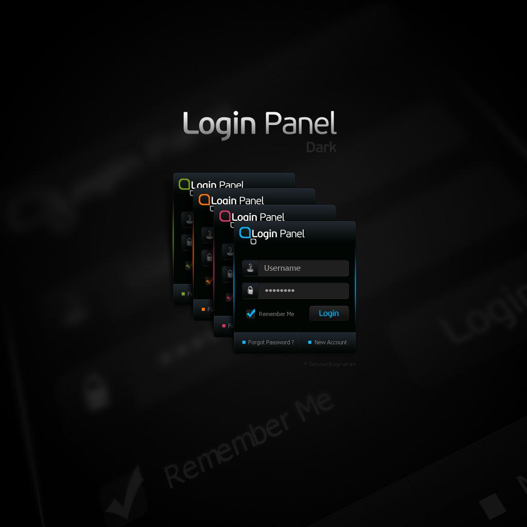 Free PSD Login Panel by SencerBugrahan