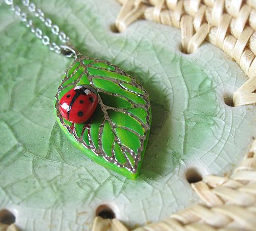Cute ladybug pendant by SMAfactory