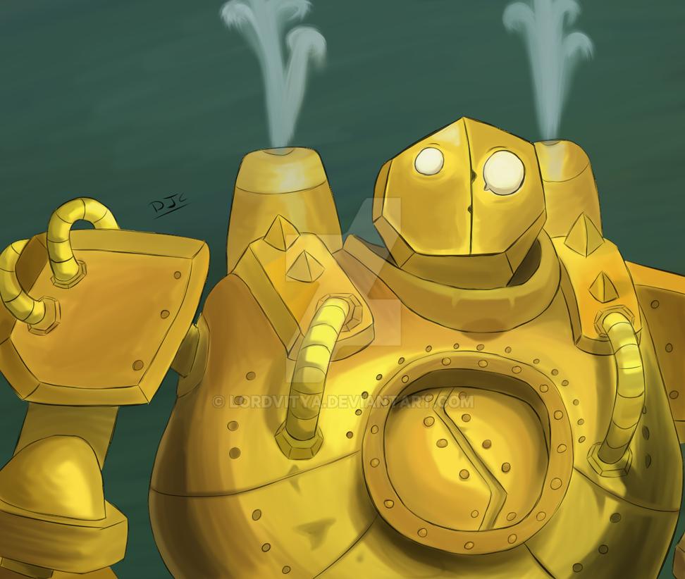 The Great Steam Golem by Edgar-L-Night
