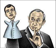 Vladimir Putin,Dmitri Medvedev by BenHeine