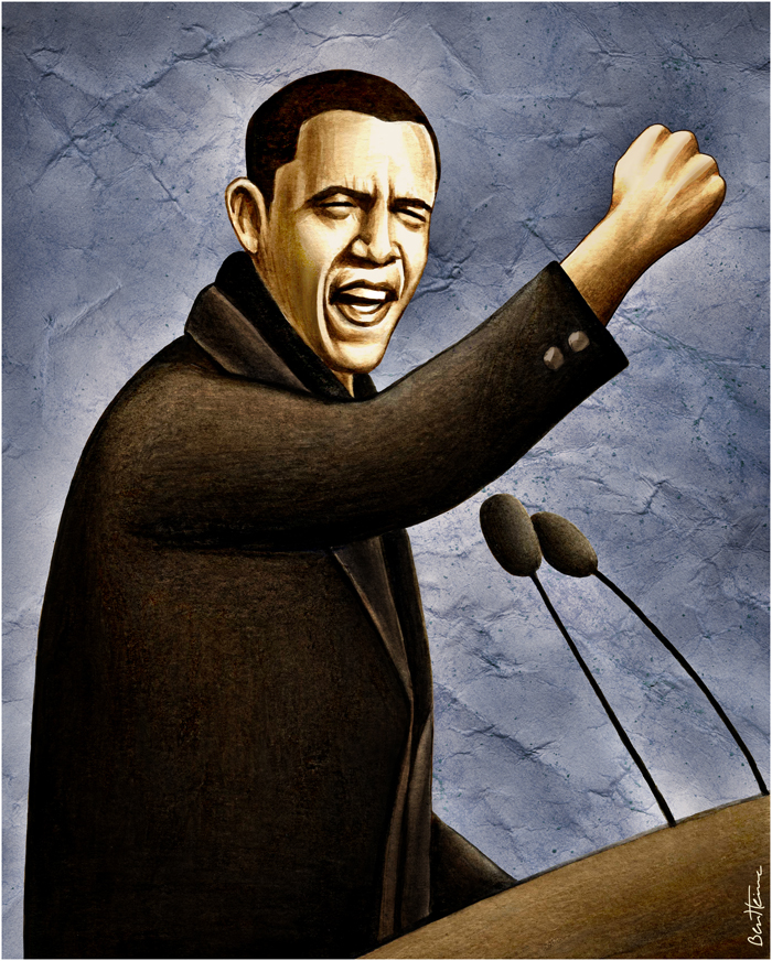 Barack Obama by BenHeine